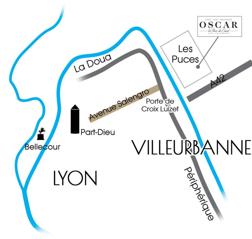 Plan d'accès Oscar Les Puces