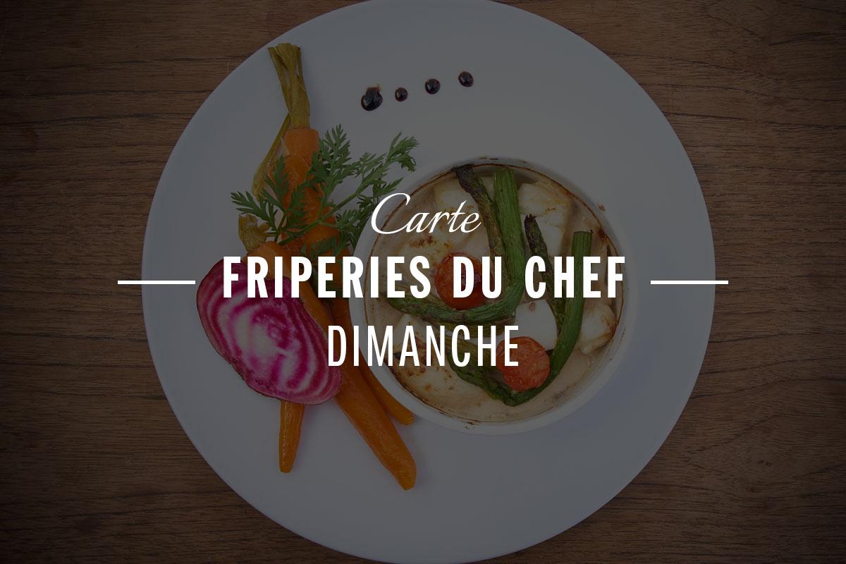 Carte Friperies du chef - dimanche